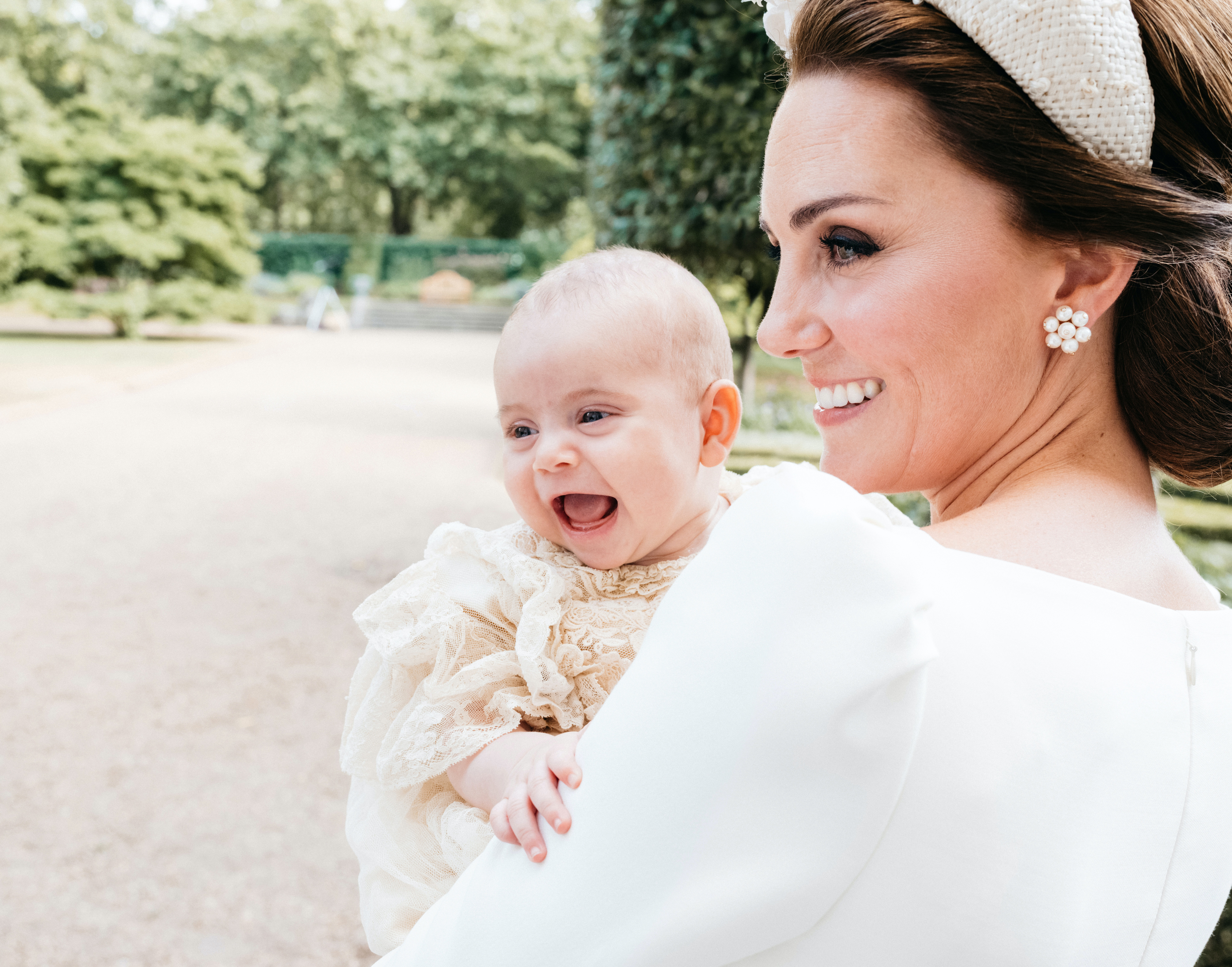 Prince Louis Is Awake And Smiling In This Super-Candid Christening Photo