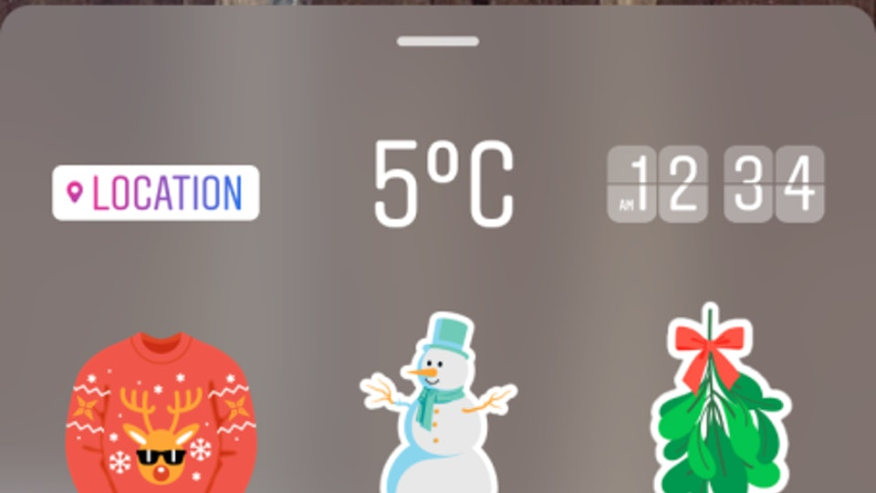how to get instagram story stickers because how else will you share your holiday spirit