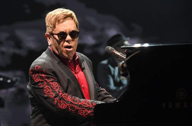 British musician Elton John performs on stage in Vienna, Austria on November 24, 2016.