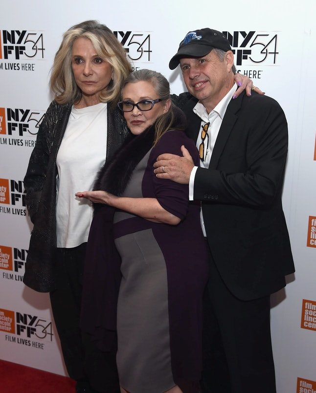 NEW YORK, NY - OCTOBER 10:  Carrie Fisher and Todd Fisher attend the 54th New York Film Festival - 'Bright Lights' Photo Cal on October 10, 2016 in New York City.  (Photo by Dimitrios Kambouris/Getty Images)