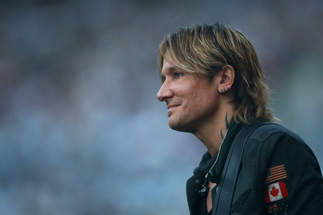 SYDNEY, AUSTRALIA - OCTOBER 02:  Keith Urban looks on before the 2016 NRL Grand Final match between the Cronulla Sharks and the Melbourne Storm at ANZ Stadium on October 2, 2016 in Sydney, Australia.  (Photo by Cameron Spencer/Getty Images)