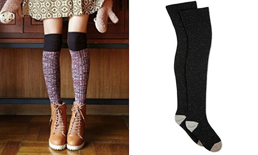 High cuffs, fun socks and a pair of well loved Vans. | Socks