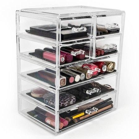 makeup organizer drawers walmart. sorbus acrylic cosmetics makeup and jewelry storage case display, $30, wal-mart organizer drawers walmart
