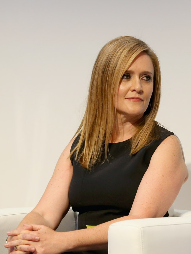 NEW YORK, NY - MAY 17:  Comedian Samantha Bee speaks onstage during TBS Night Out at The New Museum on May 17, 2016 in New York City.  (Photo by Paul Zimmerman/Getty Images for TBS)