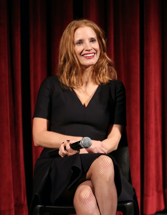 NEW YORK, NY - DECEMBER 04:  Actress Jessica Chastain attends The Academy of Motion Picture Arts and Sciences Hosts an Official Academy Screening of MISS SLOANE at MOMA - Celeste Bartos Theater on December 4, 2016 in New York City.  (Photo by Robin Marchant/Getty Images for Academy of Motion Picture Arts and Sciences)