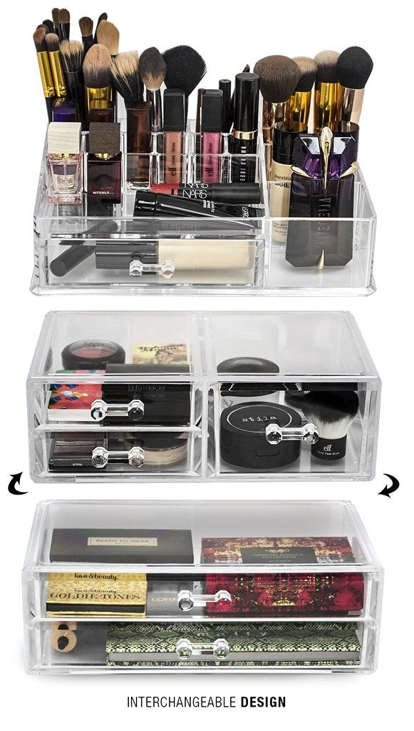 Sorbus Acrylic Cosmetics Makeup and Jewelry Storage Case Display Sets -Interlocking Drawers to Create Your Own Specially Designed Makeup Counter $56 ...  sc 1 st  Bustle & 15 Makeup Organizers You Need To Start Fresh In The New Year