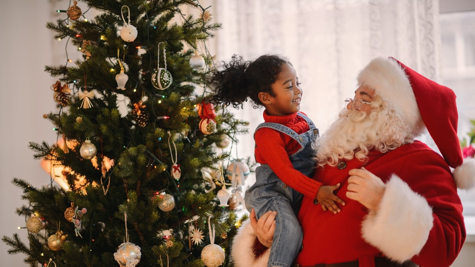 Image result for santa and kids