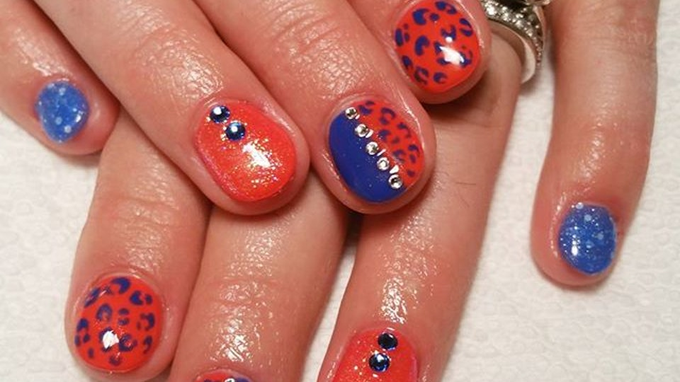 7 Nail Art Ideas For Broncos Fans That Go Perfect With Your Super Bowl  Outfit - 7 Nail Art Ideas For Broncos Fans That Go Perfect With Your Super