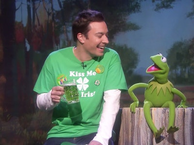 jimmy fallon and kermit the frog st. patrick's day