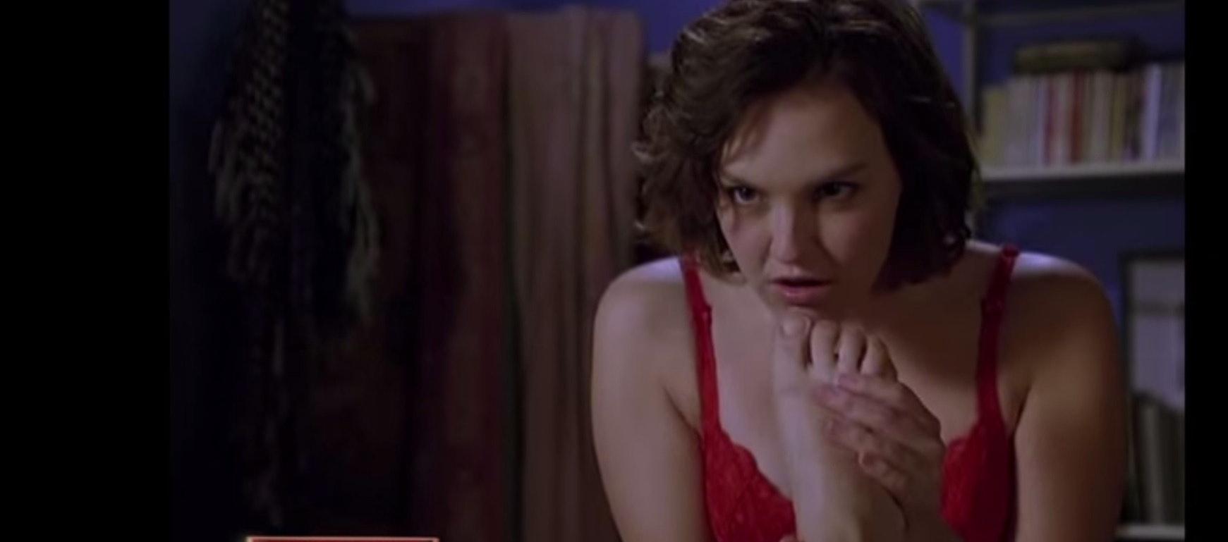 Female orgasm gagging on dick