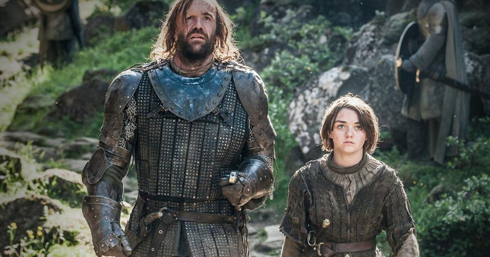 Image result for arya and the hound