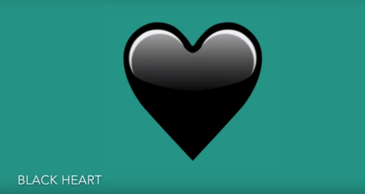 what does the new black heart emoji mean  it lets the
