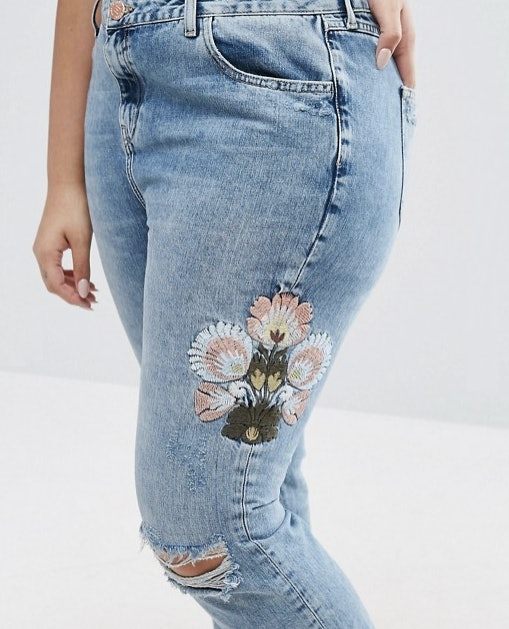 Where to buy embroidered jeans the biggest denim trend right now httpgodirectingatid86205x1538674xs1urlhttp3a2f2fusos2friver island plus2friver island plus floral embroidered boyfriend jeans ccuart Images