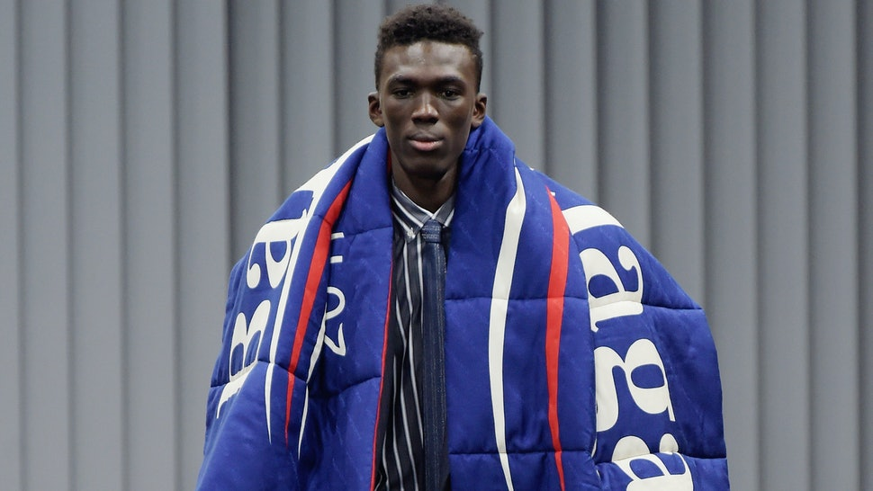 8e4d9005 Balenciaga Used Bernie Sanders Graphics In Their Runway Show & Twitter Is  Here For It — PHOTOS
