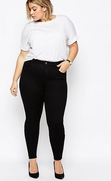 Thick bbw in white pants shopping