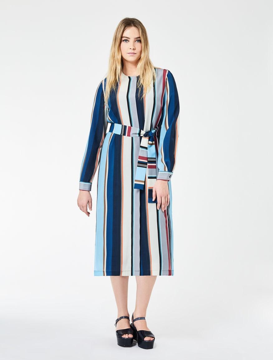 Crêpe de Shine Shirt Dress, $768, Marina Rinaldi