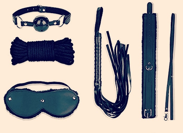 Fantasy Lover Role Play Adjustable Tie Up Wrist Handcuffs to Choker Neck Collar