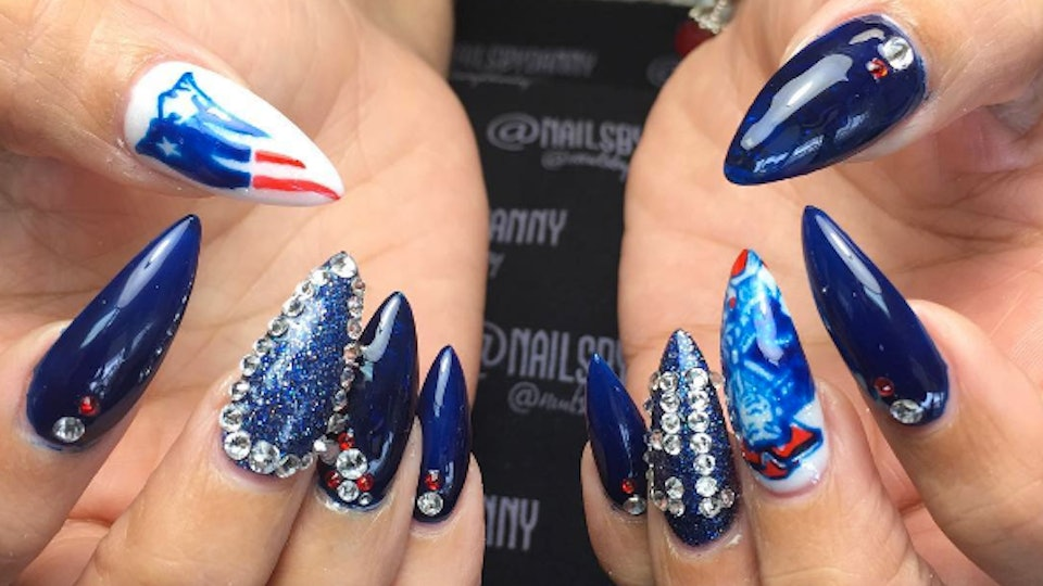 11 Patriots-Themed Manicures To Rep New England In Style