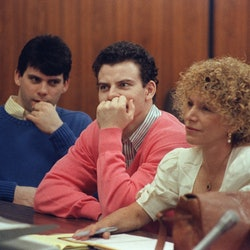 The Menendez brothers at trial for the murder of the parents