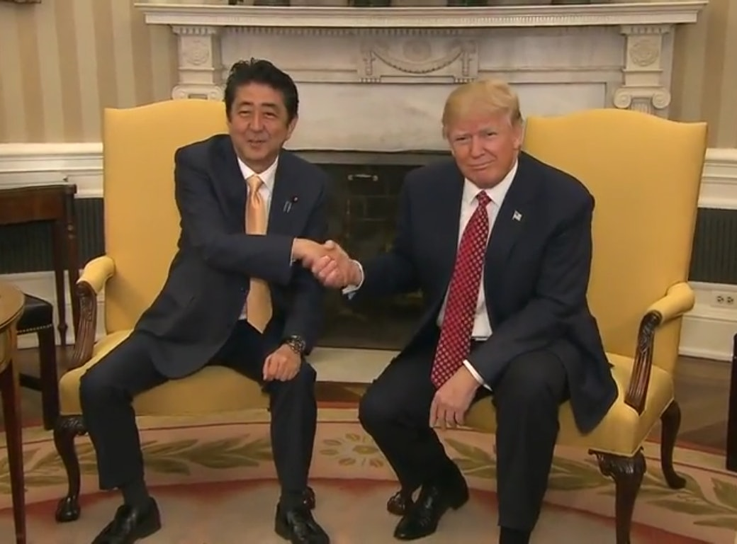 bbdc2303 e781 40df adf1 3583b23fd3f1?w=960&h=540&fit=crop&crop=faces&auto=format&q=70 this gif of the japanese prime minister shaking trump's hand is so