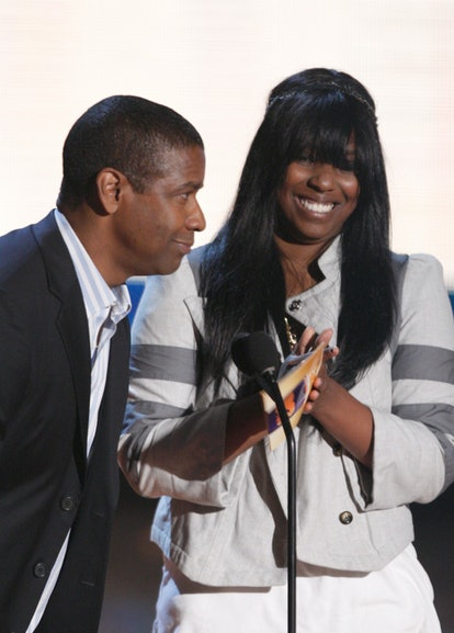 Denzel Washington touted his daughter Katia's skills as a producer.