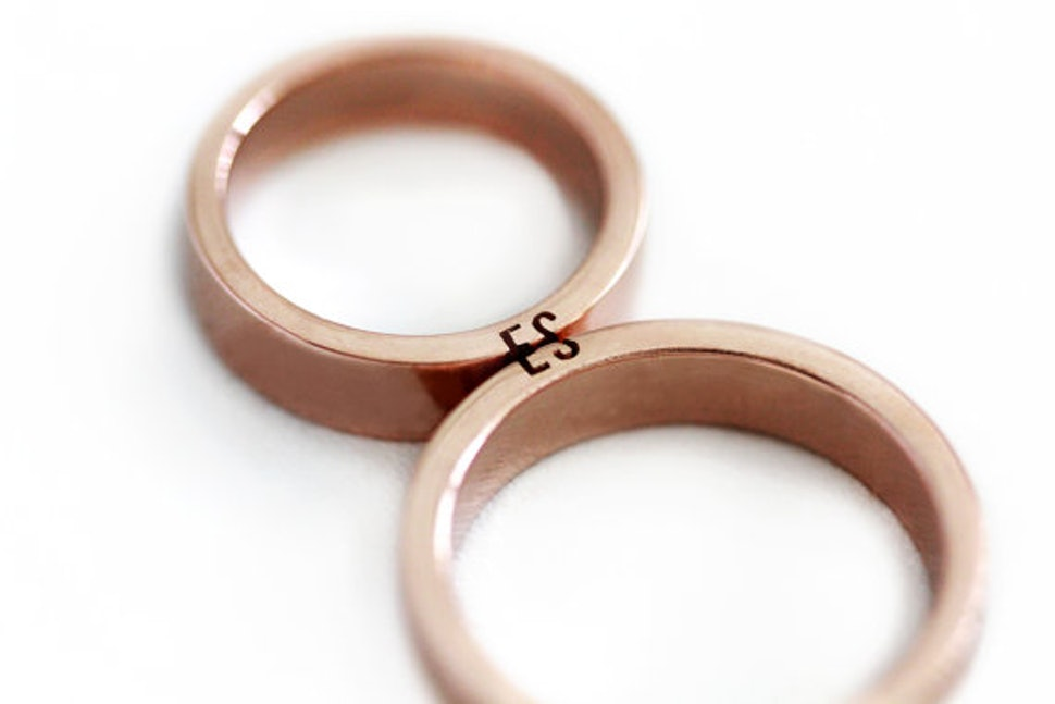11 Matching Wedding Bands For Couples Who Like Coordinating