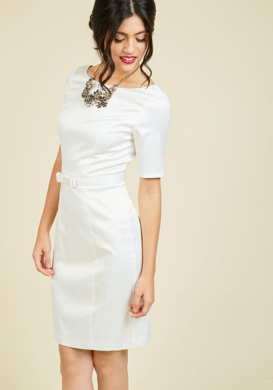 af57d5ba1f3 11 Non-Lace Wedding Dresses For Contemporary Brides