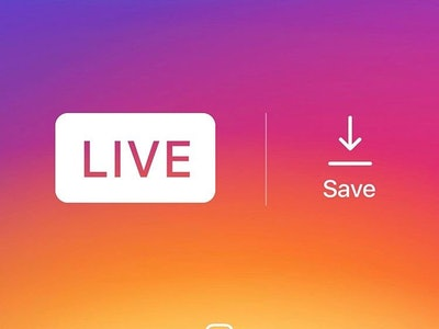 You can't technically save someone else's Instagram live video, but there's a workaround.