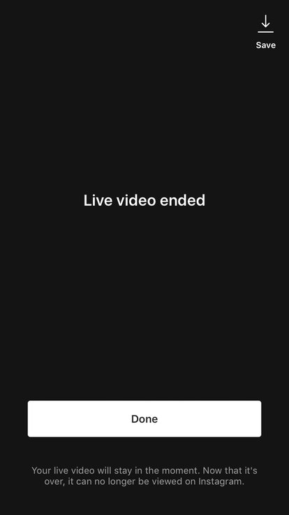 The method for how to save your own Instagram live video is pretty simple.