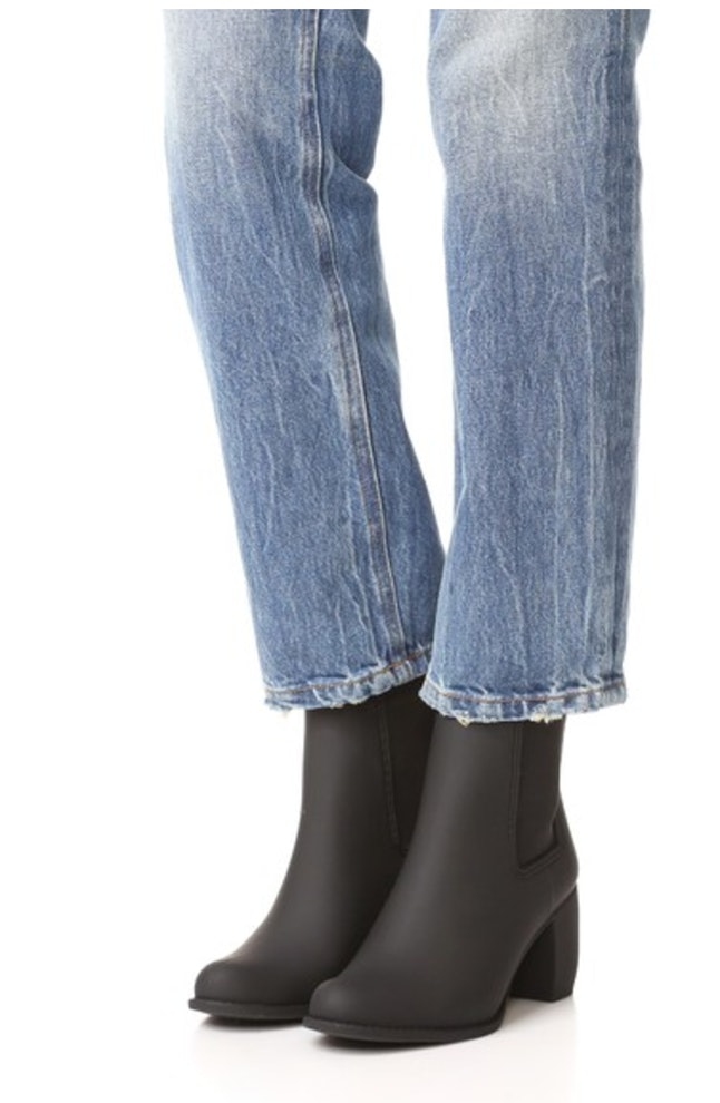 d4c2093a4 Jeffrey Campbell Over The Knee Black Thigh High Rain Boots ...