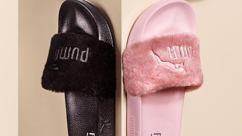 the best attitude b9496 bdac3 What Colors Are The Rihanna Satin Bow Puma Slides? You Are ...