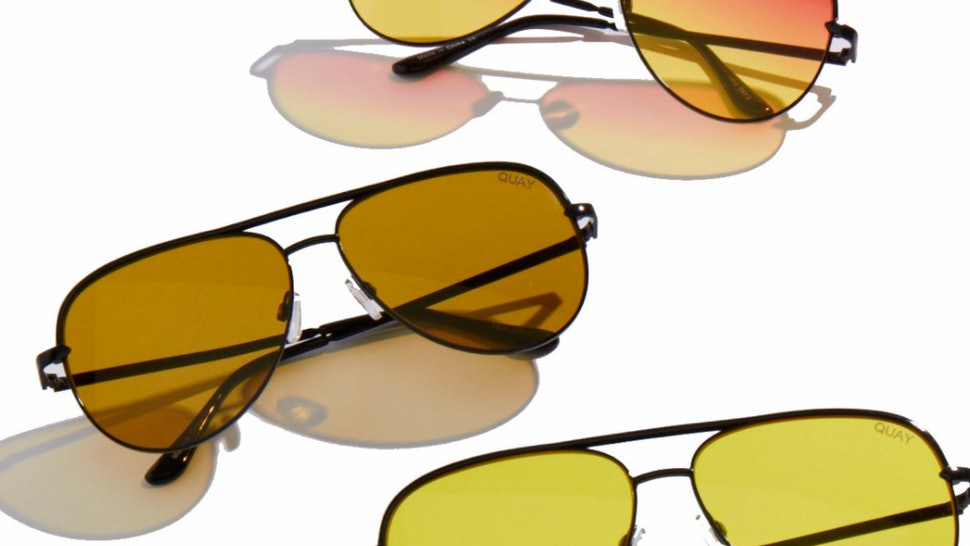 6c054edb78 When Are The Quay x Desi Perkins Sahara Sunglasses Coming Out  The Oversized  Aviators Drop At Just The Right Time