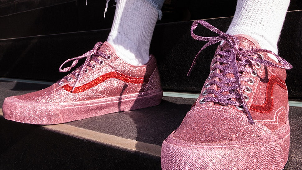 c5a1617d16 Where Can You Buy The Vans x Opening Ceremony Glitter OG Old Skool LX  Sneakers  These Sparkle Babies Are Available Here