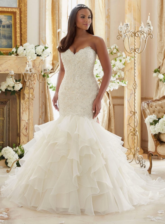 Crystal Beaded Embroidered Lace Meets Flounced Organza Plus Size Morilee Bridal Wedding Dress Price On Ointment At Your Nearest Stockist See