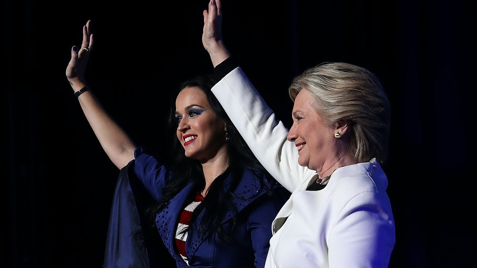 17456a3f891 Hillary Clinton Models Katy Perry s