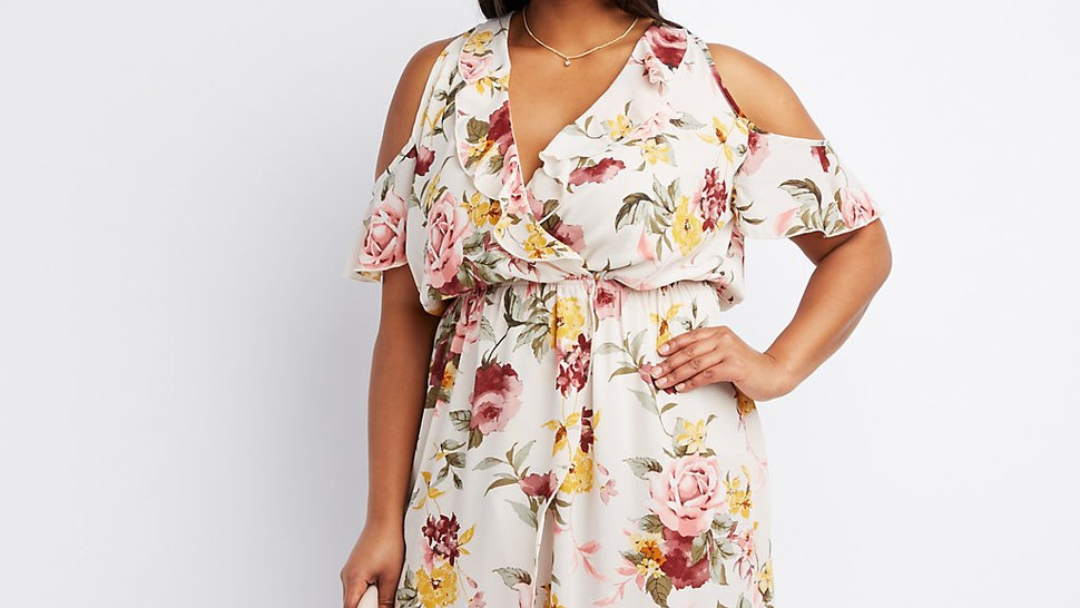 08cf136169bdb 13 Plus Size Floral Dresses For Spring 2017