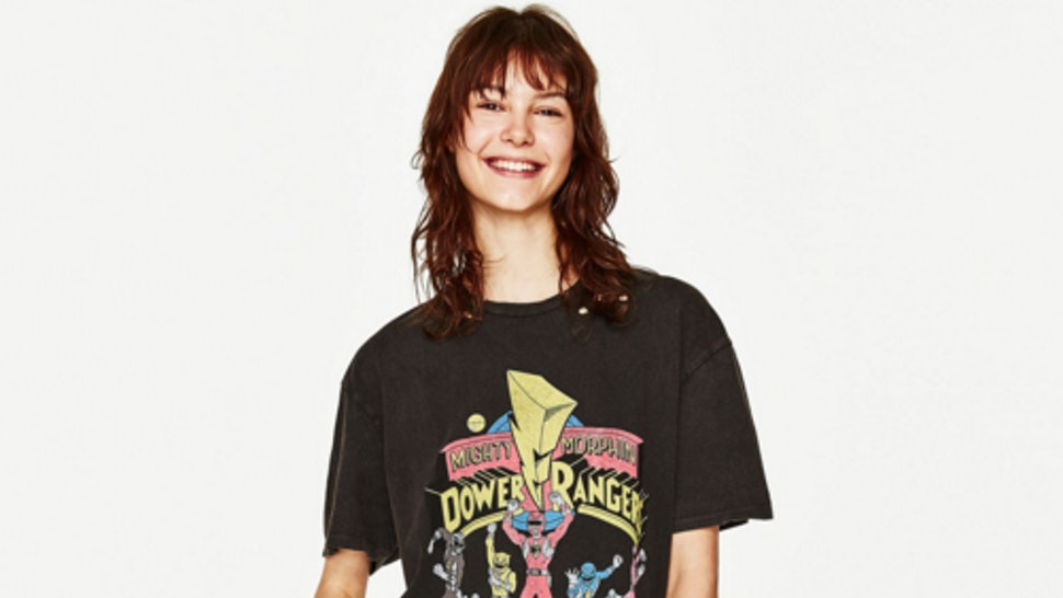 3b173f9a4ea This Zara  Power Rangers  Tee Will Take You Straight Back To The  90s —  PHOTO