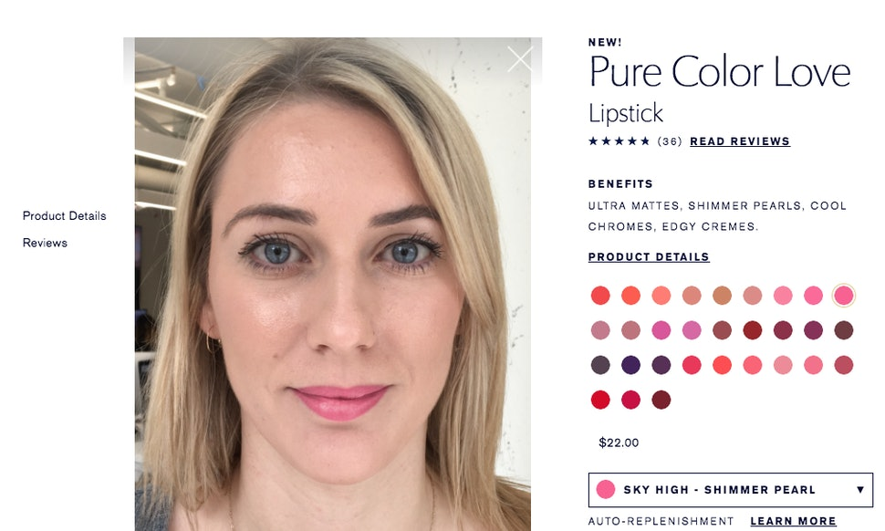 Estee Lauders New Try On Feature Lets You Play With Makeup Mess Free
