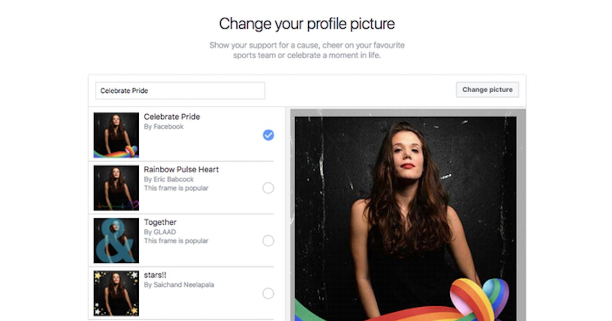 How To Update Your Facebook Profile Photo For Pride Month
