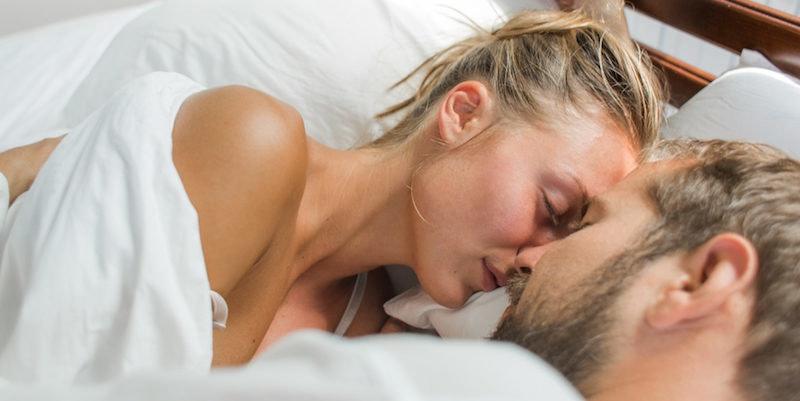 Sleeping boy to his very first orgasm
