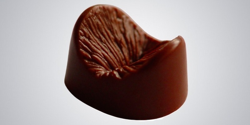 Hersheys kiss insert into anus