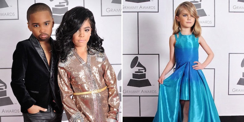 Little Kids Perfectly Recreate Red Carpet Outfits From The Grammys Photos