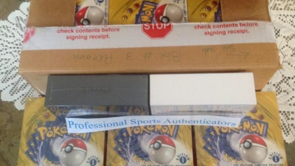 Someone Is Selling 9 First-Edition Boxes Of Pokémon Cards