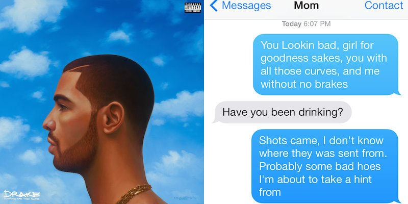 There's Now An App That Lets You Text Solely Using Drake Lyrics