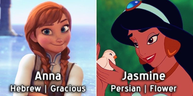 Disney Princess Names Mean Completely Diffe Things When