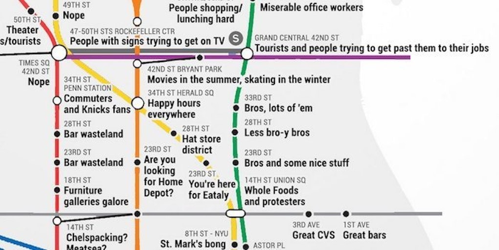 Bryant Park Subway Map.This Judgmental Subway Map Perfectly Describes Your Nyc Commute Photos