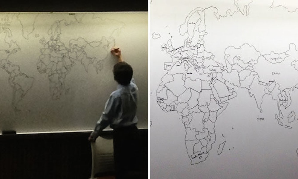 11 year old autistic boy amazingly draws entire world map by memory 11 year old autistic boy amazingly draws entire world map by memory photos gumiabroncs Image collections