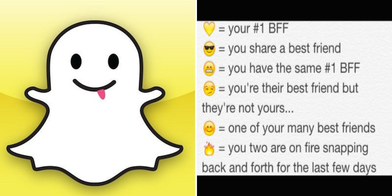What does the smiley face mean on snapchat chat