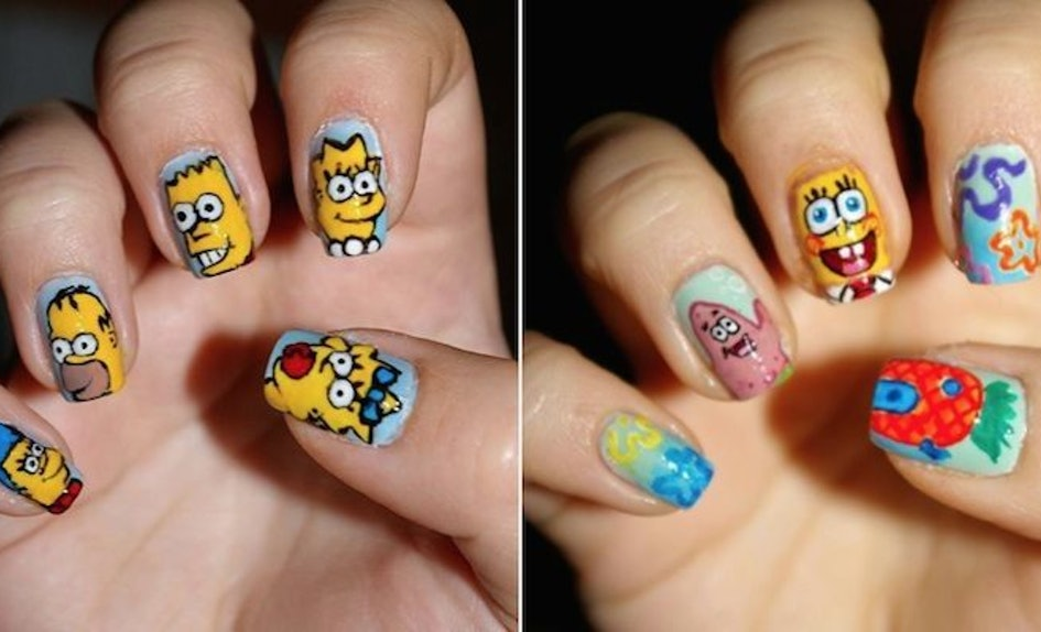 Artist Turns Your Favorite Movies And Cartoons Into Amazing Nail Art
