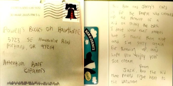 This Boy Wrote The Best Apology Ever After Throwing Up In A